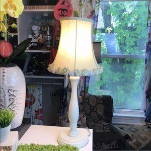🌼 Pottery Barn Kids Green Linen Flower Lamp 🌼